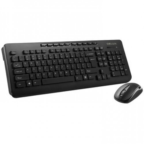 Delux OM02G+M105GX Wireless Keyboard and Mouse Combo