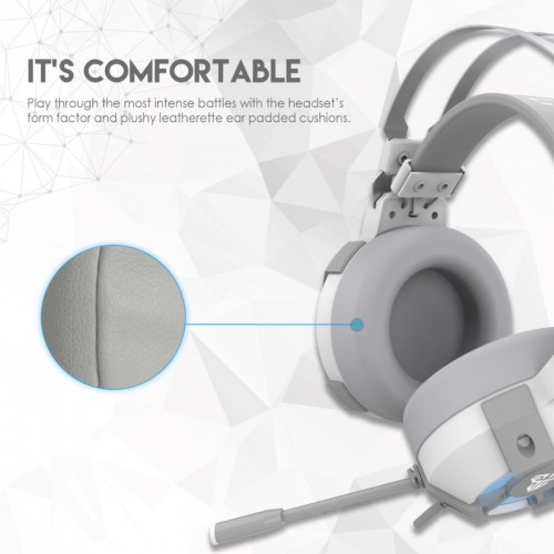 Fantech HG11 Captain 7.1 Surround Sound Space Edition RGB USB Gaming Headphone White
