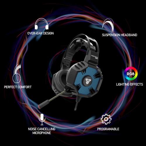 Fantech HG21 Hexagon USB 7:1 Gaming Headphone Black